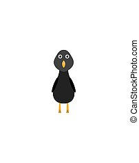 Funny blackbird character - Blackbird illustration as a...