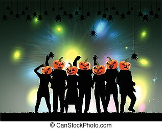 Halloween party background.