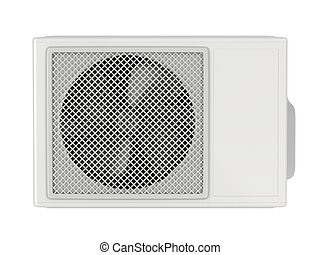 Outdoor unit of split system air conditioner - Front view of...