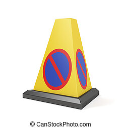 No parking cone on white background