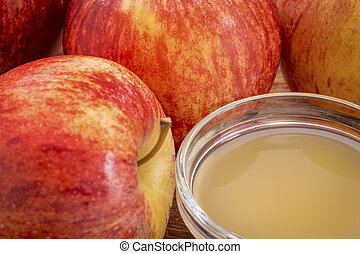 unfiltered, raw apple cider vinegar with mother - a small...