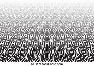 Op art geometric background. - Abstract op art geometric...