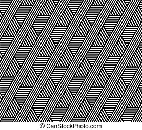 Seamless geometric lines pattern. Vector art.