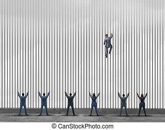 Obstacle To Opportunity - Obstacle to opportunity concept as...