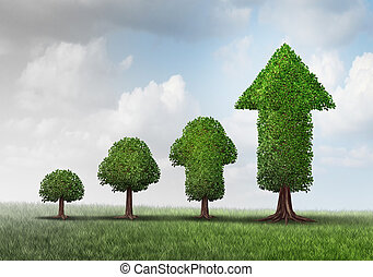 Concept Of Growing Success - Concept of growing success as a...