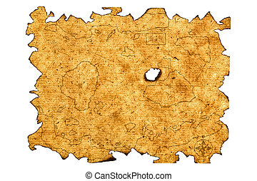 Treasure Map - Antique Treasure Map Paper Series