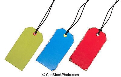 Set of Old-Style Colorful Tags