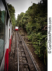 Mountain tram view - View from the mountain tram on the...