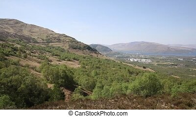 Fort William Scotland UK pan - View to Fort William Scotland...