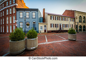 Historic buildings along State Circle, in downtown...