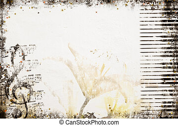 Old Style Music Background - Grunge Music Background...