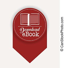 Isolated label of ebook design
