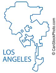 Los Angeles map - Illustration of the concept map of Los...