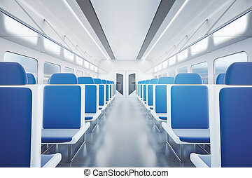 Empty train interior