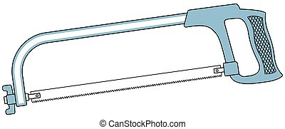 Metal saw tool - Illustration of the metal saw tool icon