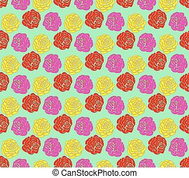Roses seamless pattern - Seamless pattern of the rose...