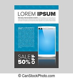 Mobile phone electronic banner