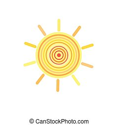 Sign of the sun color - Graphic vector Sign color the sun on...