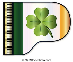 Grand Piano Eire Flag - The Irish flag set into a...