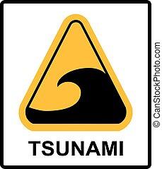 Tsunami hazard sign