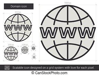 Domain line icon.