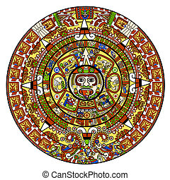Maya calendar illustration - over white