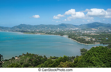 View of the Andaman Sea from the viewing point, Phuket ,...