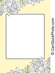 Floral template for card. - Vector greeting card with place...