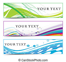Abstract banners on different themes, multi-coloured, vector...