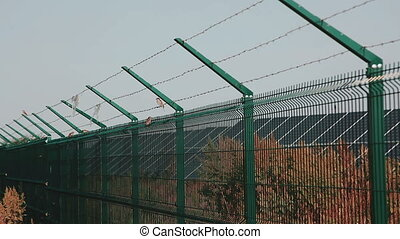 Steel Welded Solar Power Plant Security Solar. Mesh Fence....