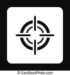 Crosshair reticle icon, simple style - icon in simple style...