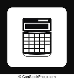 Calculator icon in simple style - icon in simple style on a...