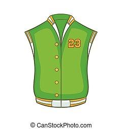 Baseball jacket icon, cartoon style - Baseball jacket icon...