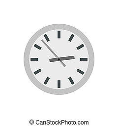 Wall clock icon in flat style - icon in flat style on a...