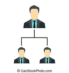Company structure icon, flat style - icon in flat style on a...