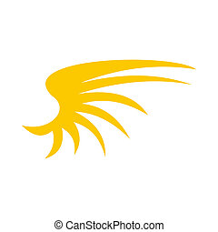 plat,  Style, jaune, Oiseaux, icône, aile