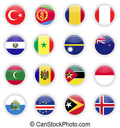 Flags set of the world - Flags set. Universal flags set to...