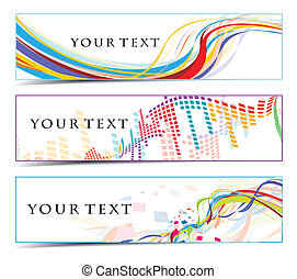 Abstract banners on colorfull themes, multi-coloured, vector...