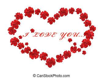 Carnation In Love Shape