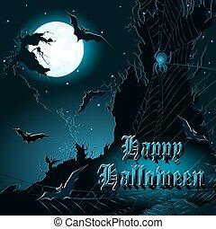 Halloween background. Vector illustration. - Halloween...