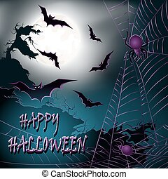Halloween background Vector illustration - Halloween...