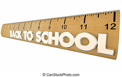 Back to School Ruler Education Learning Students 3d Illustration