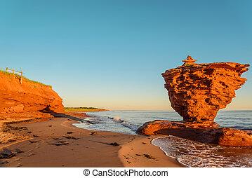 Ocean coast at the sunrise (Thunder Cove, Prince Edward...