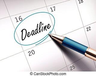 deadline word marked