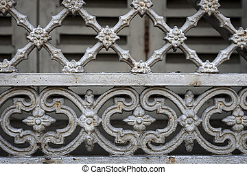 Window grill in Toulouse - Fragment of ornamental wrought...
