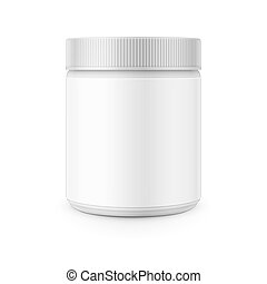 White plastic canister template for stain remover. - White...