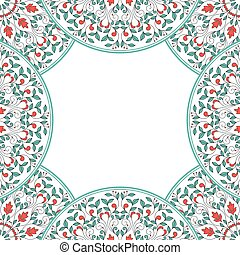 Invitation card with floral ornament 10 eps file