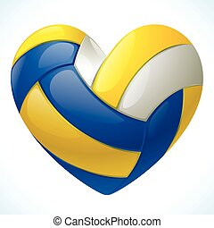 I love volleyball - Volleyball in the shape of heart
