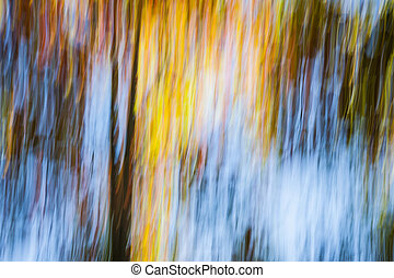 Autumn - Abstract landscape of bright colorful autumn forest...