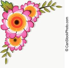 Flowers corner frame